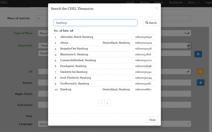 How to use the form based editor [CERL]